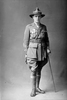 Full length portrait of Lieutenant R Tilsley of the 6th (Hauraki) Regiment, Auckland Infantry Regiment, with service chevrons and the Distinguished Conduct Medal and the Military Cross. (Photographer: Herman Schmidt, 1918 1919). Sir George Grey Special Collections, Auckland Libraries, 31-T4716. No known copyright.