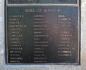 Roll of honour, Korean War Memorial 1950-53, Dove-Meyer Robinson Park, Parnell, Auckland. Names: ALLNATT Edward William (name incorrectly spelt as 'Allanatt' on memorial), BAILEY Allwyn , BERRY Peter Rex, BURBUROUGH John Ewing, CARSON Ramon Deane, CLARK Ivo Raymond, COMPTON Robert Edward, COOK Gordon Brian, COOPER Leslie John, COOPER William Henry, DICKSON Wallace Bruce, FIELDEN Dennis Siddall, FRITH Mervyn Frederick, GRIFFITHS Eric James, HUMM Herbert Lester, JACKSON Donald Cameron, LONG Richard George, MacDONALD Ronald, McDONALD Ray, McLAUGHLIN Edward Michael Noel, McRAE John, MARCHIONI Robert Edward, MAY Arthur, MOLLINSON Peter James, MORTIMER Raymond Herbert, MURRAY Lyn, NGATAI Dickson, O'NEIL Thomas Mervyn, PERCIVAL Frank Osmond, POYNTON Frederick Terence, REID Reginald James, RODGERS Douglas Neville, SCAHILL James Martin Conrad, SHORTLAND Joseph, TAIATINI Thomas Te Hau, TAYLOR Colin Franklin, UNSWORTH Robert James, VUGLER Cedric John, WAITAPU Dennis, WATSON Jefford Rex, WHANGAPIRITA Bruce, WICKSTEED Barton, PARKER (WILLIAMS) Frederick William. Image © Auckland Museum CC BY.