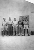 (l-r) Darcy Gardiner s/n 800706, Snow, Fred, Peter, Ken standing in front of building. (Collection of Darcy Gardiner (800706)) . Image provided by Brian Gardiner. This image may be subject to copyright.
