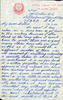 Letter from Corporal MC Baker (S/N 43549) to his mother Ella Baker, dated 17 March 1944, on YMCA Letterhead page 1. This image may be subject to copyright.