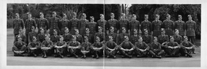 Group photograph of 'Airmen Pilots, course 34, Rotorua'. No Known Copyright.