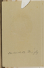 Inside cover. Frederick A. Dingley 13/3015[or 8] Trumpeter F. Dingley A Squadron left N.Z. 12 Feb 1916 10th Reinforcement NZEF Killed in Action during the Battle of Messines June 7 1917. Mickle, A. M. R. (n.d.)Micklealbum. Auckland War Memorial Museum - Tamaki Paenga Hira. PH-ALB-561. p.85. No known copyright restrictions.
