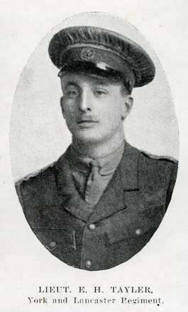 Portrait of E. H. Tayler. Auckland Grammar School chronicle. 1915, v.3, n.1. Image has no known copyright restrictions.