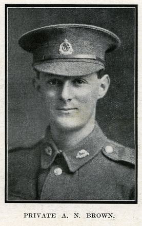 Portrait of A. N. Brown. Auckland Grammar School chronicle. 1917, v.5, n.2. Image has no known copyright restrictions.