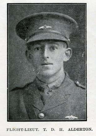 Portrait of T. D. H. Alderton. Auckland Grammar School chronicle. 1918, v.6, n.2. Image has no known copyright restrictions.