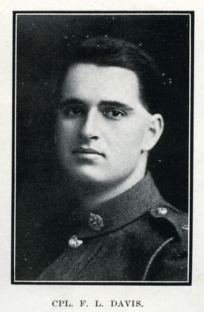 Portrait of F. L. Davis. Auckland Grammar School chronicle. 1918, v.7, n.1. Image has no known copyright restrictions.