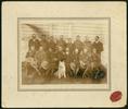 "Ohura Legion of Frontiersmen. c1912-1914. Handwritten in ballpoint pen on verso ""Sidney James Goodyear/ Front row, first left. Ohura Legion of Frontiersmen?/ 1912-1914?"". Goodyear, Sidney James. Auckland War Memorial Museum Library. PH-2007-4-2. Image has no known copyright restrictions."