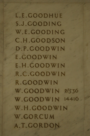 Auckland War Memorial Museum, World War 1 Hall of Memories Panel Goodhue, L.E. - Gordon, A.T. (photo J Halpin 2010)
