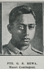 Private G. R. Rewa, Maori Contingent, wounded. Taken from the supplement to the Auckland Weekly News 12 August 1915 p040. Image has no known copyright restrictions.