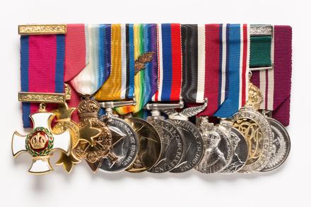 medal set, front (1997.77.1)