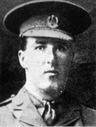 Portrait of 2nd Lieutenant Cyril Fuller Carey (6/3959). Image kindly provided by Marlborough memorial project (2009). Image has no known copyright restrictions.