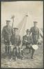 Unknown photographer (n.d.) [Group portrait in front of tent.] Auckland War Memorial Museum album 545 loose p.2.