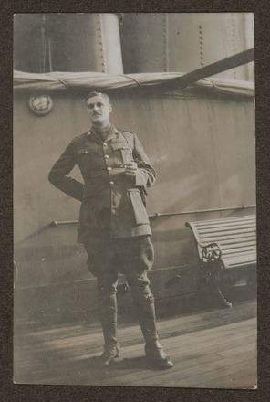 Unknown, photographer (1916). A.G.M. 1916. Auckland War Memorial Museum - Tāmaki Paenga Hira, A. G. Macdonald Album 2 PH-ALB-546-p20-8. Image has no known copyright restrictions.