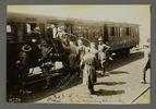 """German Wounded, Lt. Copeland, JHN, German Prisoners, No. 3 F. Amb train at Louvencourt"" Printed on recto ""H524"". Auckland War Memorial Museum - Tāmaki Paenga Hira. PH-ALB-195 [James Hardie Neil album] PH-ALB-195-p39-4. Image has no known copyright restriction."