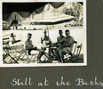 """Four men in swimming leisure attire, """"Still at the baths"""", Photo Album in Egypt of 638 Charles Honori Parks. Image kindly provided by Parks family. Image has no known copyright restrictions."""