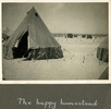 """Army tents in the desert, """"The happy homestead"""", Photo Album in Egypt of 638 Charles Honori Parks. Image kindly provided by Parks family. Image has no known copyright restrictions."""
