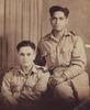 Portrait of Private Ngaro Komene 25911 (right) with Jim Pou. Image kindly provided by Raymond Davison (January 2017). Image may be subject to copyright.