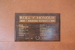 Roll Of Honour - Hikurangi District Hall, 1939-1945. Image provided by John Halpin 2014. CC BY John Halpin 2014.
