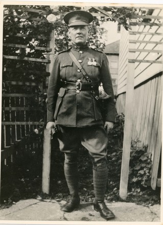 Full length portrait of Inter War Staff Sergeant Major (Warrant Officer Class 2) Charles Graham Stokes. Image kindly provided by John Stokes (March 2017). Image has no known copyright restrictions.