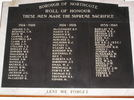 Borough of Northcote Roll of Honour.  Northcote War Memorial Hall, 2 Rodney Road, 0627. Image kindly provided by Geoff Parry 2013, CC BY Geoff Parry 2013