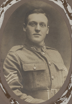 Portrait of Sergeant Arthur Harrington Coster, Archives New Zealand, AALZ 25044 3 / F1465 51. Image is subject to copyright restrictions.