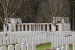 Headstone of Private John Michael Adair (46161). Buttes New British Cemetery (N.Z.) Memorial, Polygon Wood, Zonnebeke, West-Vlaanderen, Belgium. New Zealand War Graves Trust (BEAQ6303). CC BY-NC-ND 4.0.
