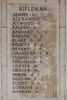 Headstone of Rifleman George Adams (26/700). Buttes New British Cemetery (N.Z.) Memorial, Polygon Wood, Zonnebeke, West-Vlaanderen, Belgium. New Zealand War Graves Trust (BEAQ6271). CC BY-NC-ND 4.0.
