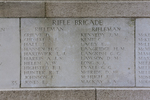 Headstone of Rifleman Thomas Hall (32952). Messines Ridge (N.Z.) Memorial, Mesen, West-Vlaanderen, Belgium. New Zealand War Graves Trust (BECS5993). CC BY-NC-ND 4.0.