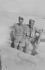 Photograph Eric Batchelor and Robert William (Ram) Reid in a slit trench, Western Desert, c.Second World War. From the collection of Arthur William (Moss) Squire 16770, 23 Battalion. Image kindly provided by Roger Sommerville (August 2019). Image may be subject to copyright copyright restrictions.