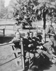 Photograph of 23 Battalion soldiers on leave at Cairo Zoo, including (from left to right) Norman Cyril Smythe 16767, Philip Joseph Kent 17193, Eric Batchelor 16827, Charles George Whiting 17083 and William Patrick Sheehan 16811 (standing). Date unknown. From the collection of Arthur William (Moss) Squire 16770, 23 Battalion. Image kindly provided by Roger Sommerville (November 2019). Image may be subject to copyright restrictions.