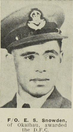 Portrait of Flight Lieutenant Edward Simon Snowden, Auckland Weekly News, 24 April 1945. Auckland Libraries Heritage Collections AWNS-19450424-26-31. Image is subject to copyright restrictions.